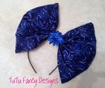Over-sized Blue Swirl Bow