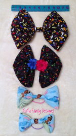 Create Your Own Fabric Hair Bow - available in multiple sizes